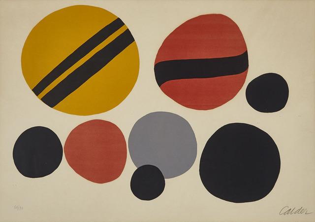 Alexander Calder, 'Chevrons Noir Sur Rouge Et Jaune', 1966, Waddington's