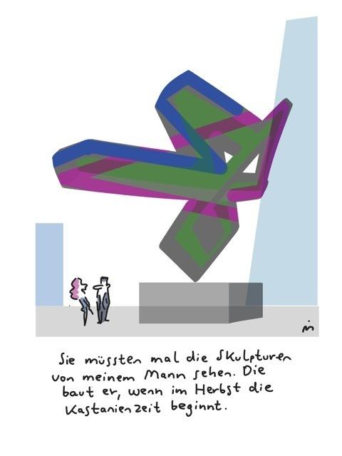 , 'Sie müssen mal die Skulpturen von meinem Mann sehen,' 2018, Galerie Floss & Schultz