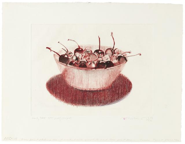 Wayne Thiebaud, 'Cherries', 1983-1995, Paul Thiebaud Gallery