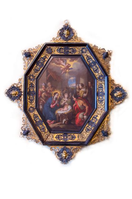, 'Adoración de los pastores,' Primer tercio del Siglo XVII, Mario Uvence