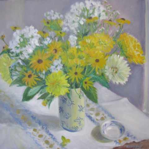 , 'Yellows in the Bee Vase,' 2018, Blue Mountain Gallery