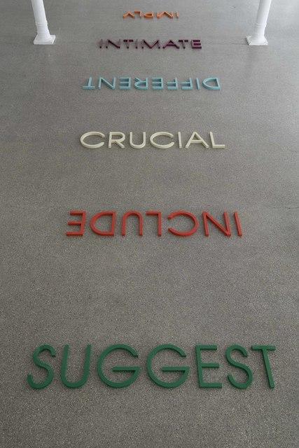 Robert Barry, 'Multicoloured Word List', 2009, Installation, Painted cast resin, Galerie Greta Meert