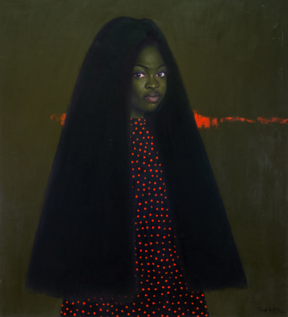 oluwole omofemi, 'Omonalisa IV', 2020, Painting, Oil and acrylic on canvas, Out of Africa Gallery