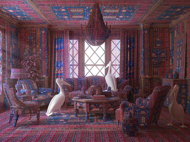 , 'Pelicans in the lounge,' 2014, Sanatorium