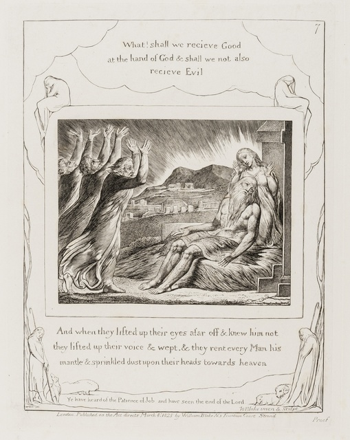 William Blake, 'Job's Comforters, pl. 7 from 'Illustrations of the Book of Job'', 1825, Forum Auctions
