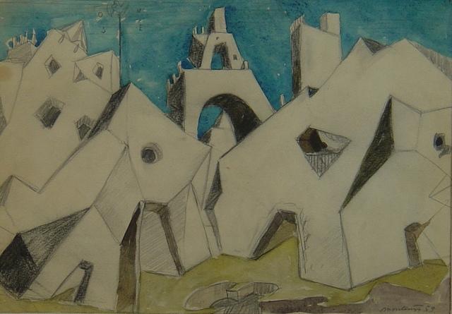 , 'Ciudad cubista,' , Oscar Roman