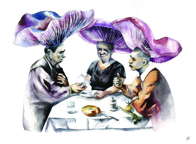 , 'Mushrooms Having Dinner,' 2016, SABSAY