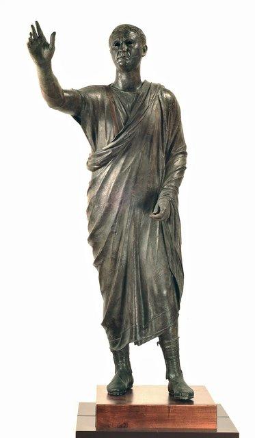 ", 'Portrait of Aule Meteli, ""The Arringatore"",' 125-100 B.C., J. Paul Getty Museum"