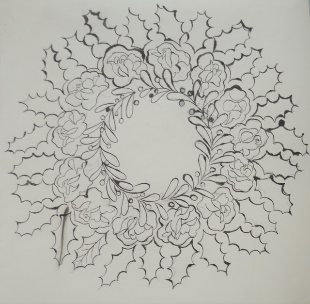 Andy Warhol, 'Untitled (Wreath)', ca. 1956, Long-Sharp Gallery