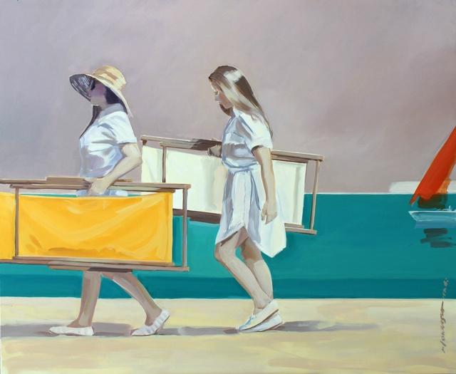 , 'Sunbeds,' 2017, Galeria Katarzyna Napiorkowska