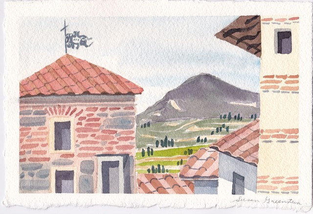 , 'Tile Roofs and Tuscan Valley,' 2018, 440 Gallery