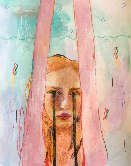 Alexandra Levasseur, 'Le Plongeon', 2018, Drawing, Collage or other Work on Paper, Coloured pencils on paper, Galerie C.O.A