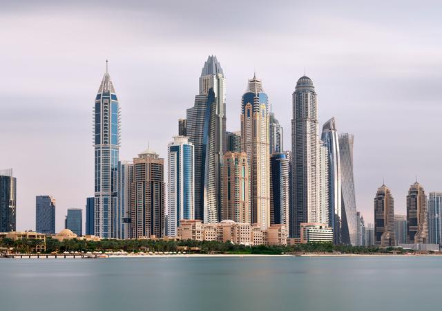 Andrew Prokos, 'Dubai Marina Towers from Palm Jumeirah - Long-Exposure', 2020, Andrew Prokos Gallery