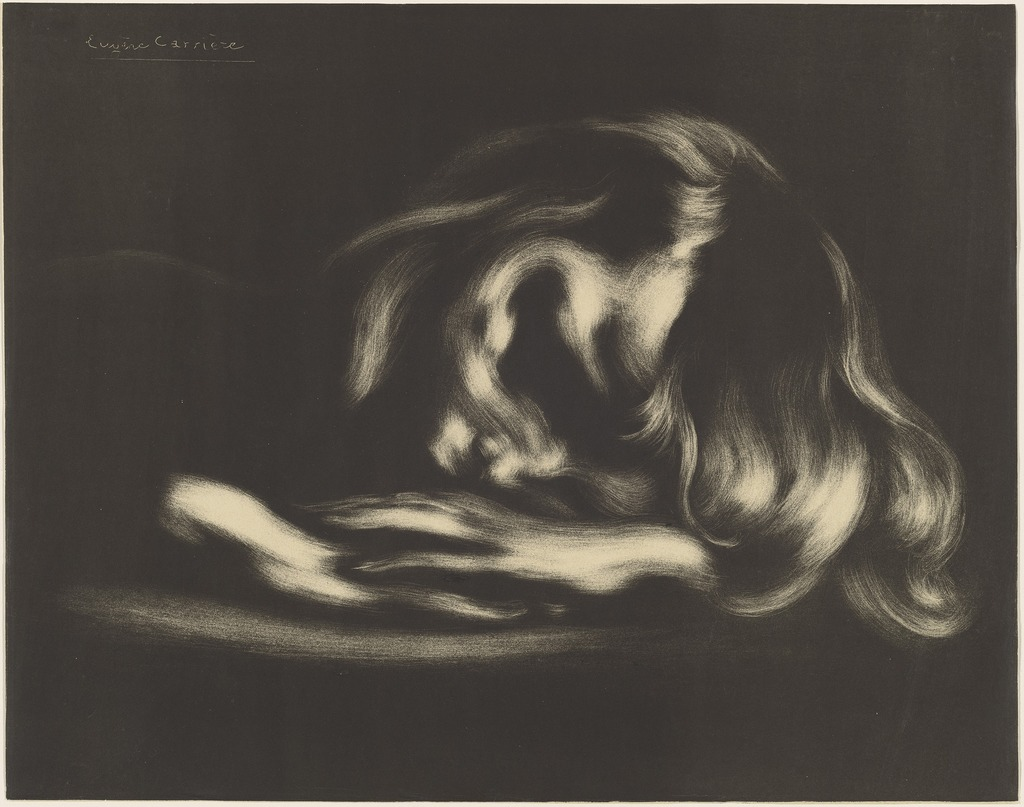 Image result for Eugène Carrière Sleeping