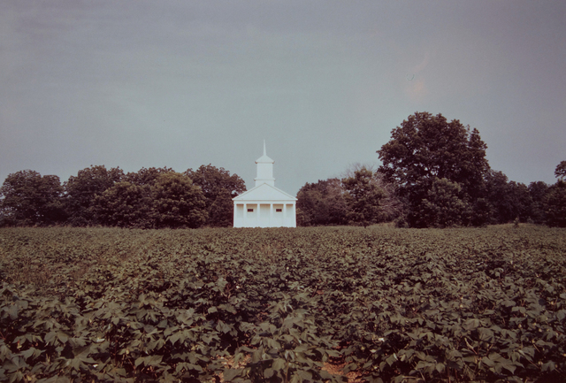 , 'Church Across Field of Cotton, Pickinsville, Alabama ,' 1981, David Lusk Gallery