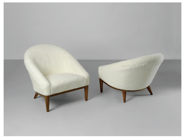 , 'Pair of Fireside Chairs,' designed in 1936-this model c. 1950, Geoffrey Diner Gallery