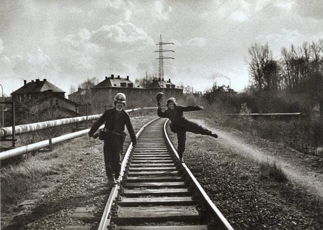 Viktor Kolar, 'Untitled (Men on Railroad Tracks)', 1977 / 1991, Contemporary Works/Vintage Works