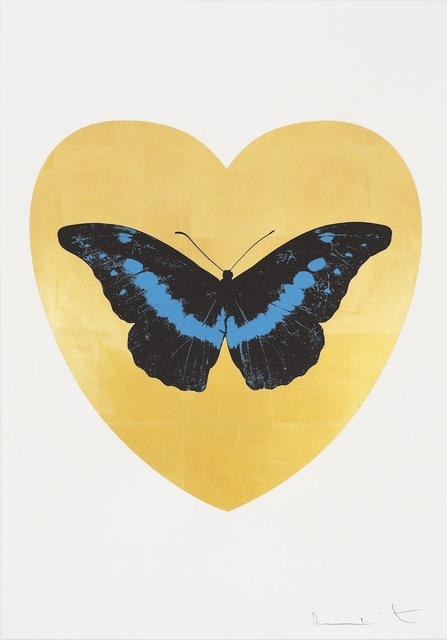 , 'I Love You - gold leaf, black, turquoise ,' 2015, Paul Stolper Gallery