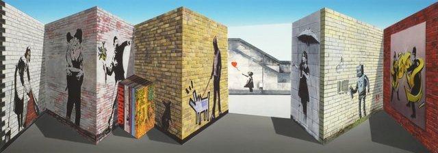 """Patrick Hughes, '""""Banksy"""" 3D Multiple', 2018, Gormleys Fine Art"""