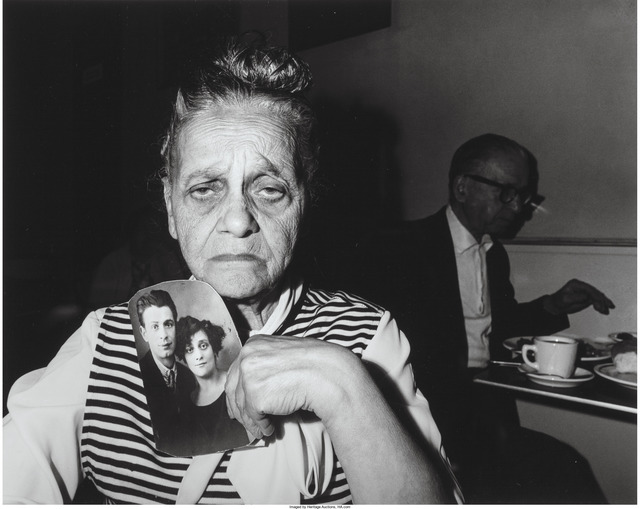 Bruce Davidson, 'Bessie Gakaubowicz, holding a photograph of her and her husband taken before World War II', 1966, Heritage Auctions
