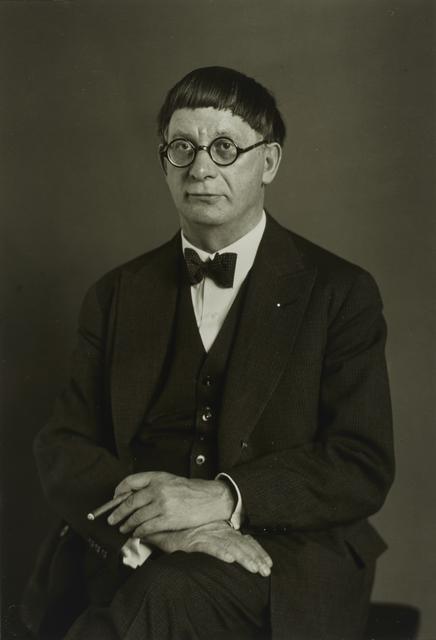 , 'DerArchitekt(HansPoelzig),' 1929, Galerie Julian Sander