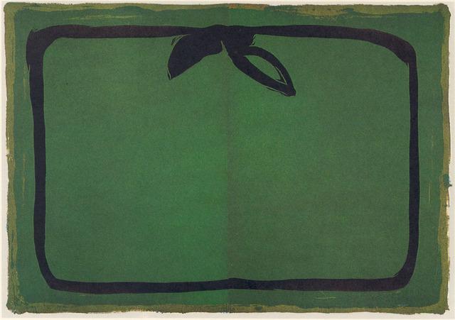 , 'Verd i orla Negra,' 1987, Polígrafa Obra Gráfica