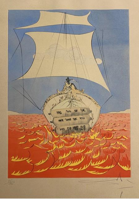 Salvador Dalí, 'Levi', 1972, Drawing, Collage or other Work on Paper, Original Etching + Color, Dali Paris