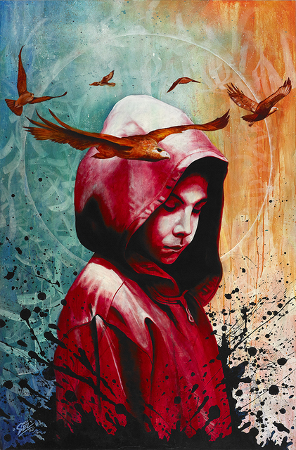 "Marcel ""SEL"" Blanco, 'Child Mind', 2020, Painting, Acrylic and spray paint on wood panel, FATHOM"