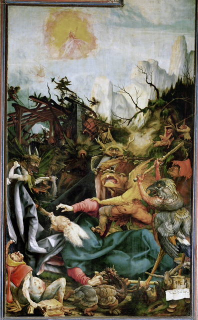 Matthias Grünewald, 'The Temptation of Saint Anthony', ca. 1512-15, Painting, Oil on wood, Erich Lessing Culture and Fine Arts Archive