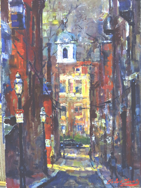 , 'Beacon Hill, Old Boston,' 2019, Copley Society of Art