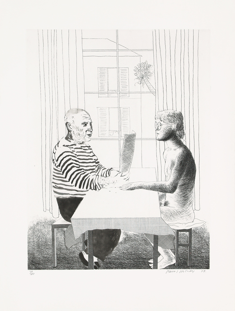 David Hockney, 'Artist and model', 1973-1974, Galerie Boisseree