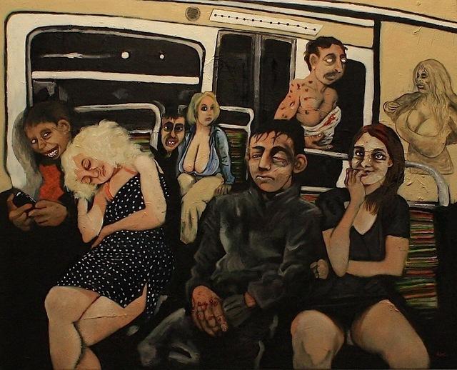 , 'Midnight on the metro,' 2013, Afronova