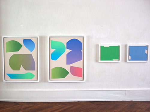 , 'Exhibition view, large gradient pairtings,' 2014, Galerie Van der Planken