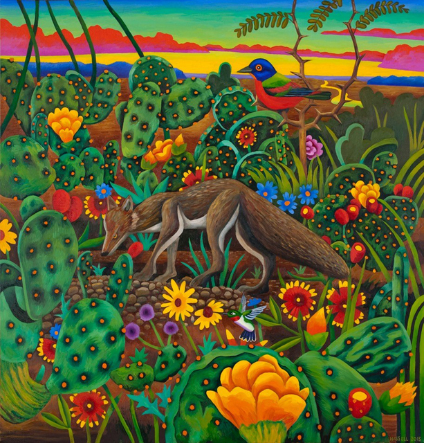 , 'Fox in a Cactus Patch,' 2015, William Campbell Contemporary Art, Inc.