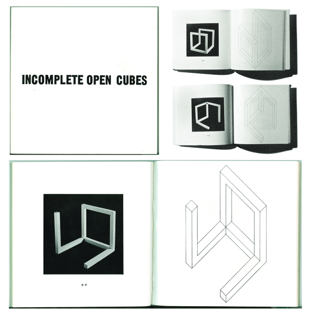 , 'Incomplete open cubes, New York, The John Weber Gallery,' 1974, L'Arengario S.B.