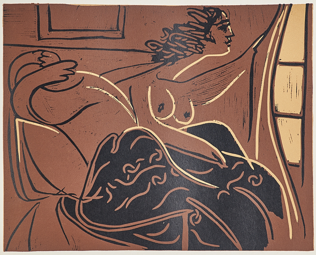 Pablo Picasso, 'Linoleum Cuts: Bacchanals, Women, Bulls and Bullfighters', 1962, Print, Forty-five linoleum prints in colors bound in cloth covered book with original slipcase with introduction by Wilhelm Boek, Rago/Wright