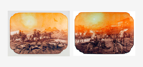 Roy Purcell, 'On the Spanish Trail and Gold Field, 1905 (two works),' 1979-1980, Heritage Auctions: Holiday Prints & Multiples Sale