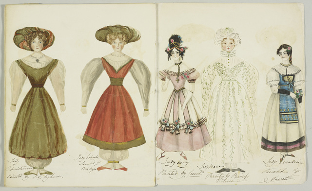 , 'Princess Victoria's paper dolls,' ca. 1830, Royal Collection Trust
