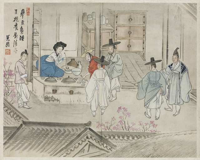 , '혜원전신첩 (Album of Genre Paintings by Shin Yunbok),' 18th-19th century, National Museum of Korea