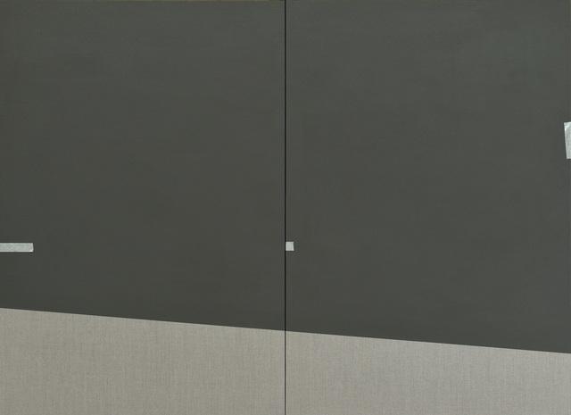 , '墨綠 紙膠帶 Painter's Tapes on Blackish Green,' 2017, Double Square Gallery