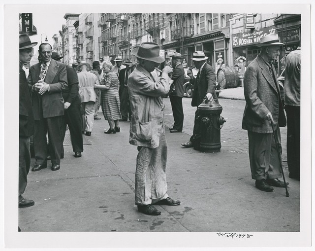 , 'Lighting Up, Lower East Side, N.Y. City ,' 1948, Be-hold