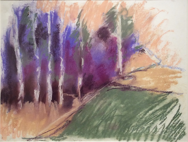 Nancy Rutter, 'Violet Birches in Early Morn', 2016, Carrie Haddad Gallery