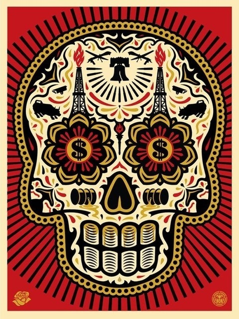 Shepard Fairey (OBEY), 'power & glory of the dead red', 2015, Rudolf Budja Gallery