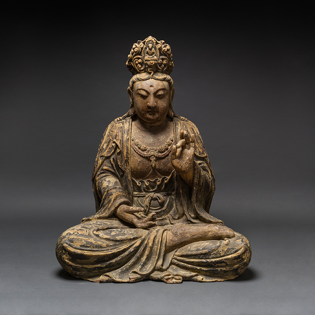 Unknown Chinese, 'Ming Wooden Seated Bodhisattva', 1368-1644, Barakat Gallery