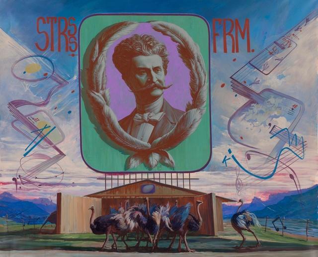, 'Johann Strauss' experimental ostrich-breeding farm,' 2014, Regina Gallery