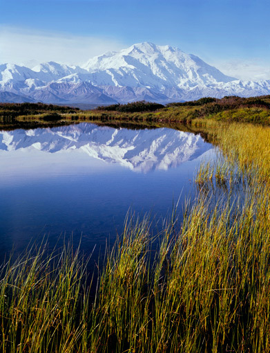 Philip Hyde, 'Mt. Denali Reflection Pond, Denali National Park, Alaska', 1971, Photography, Gelatin silver print, Scott Nichols Gallery