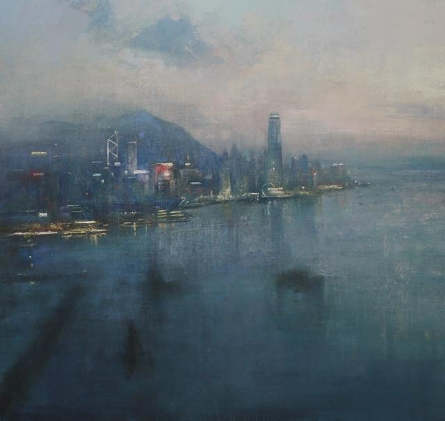 Benjamin Warner, 'Nightfall, Hong Kong Harbour', 2017, Tanya Baxter Contemporary