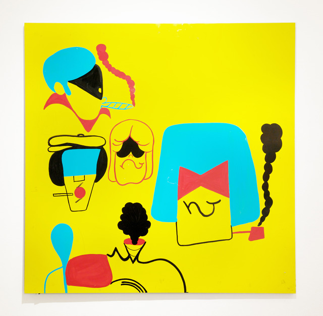 , 'B-Boy Heads Yellow,' 2011, Jonathan LeVine Projects