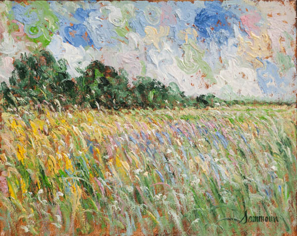 , 'Lavender Wheat Field,' 2018, Galerie d'Orsay