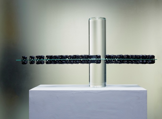 Sunil Gawde, 'id - od 1', 2014, Installation, Fiber glass, glass sheet, glass cylinders filled with water, Double Square Gallery